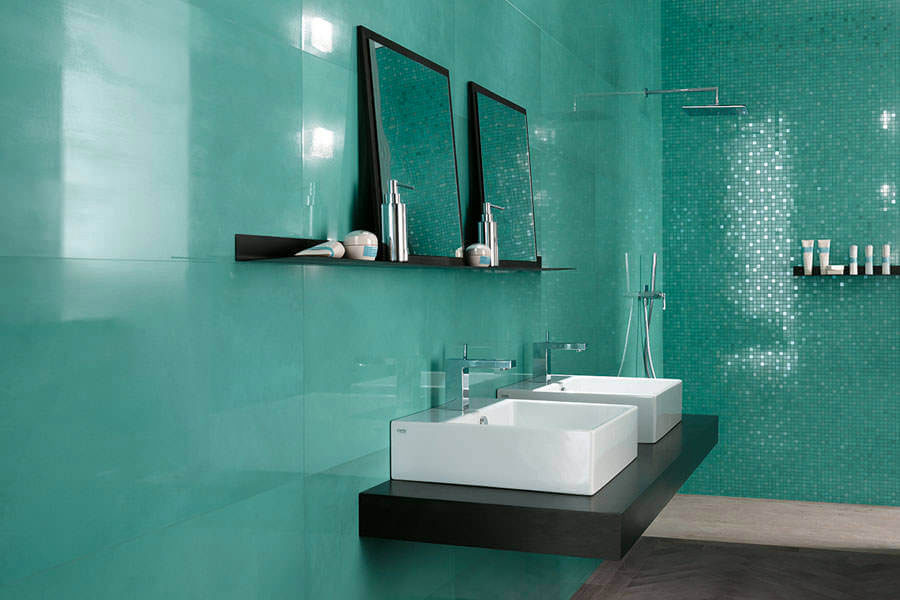 Bagno con pareti verdi n.03