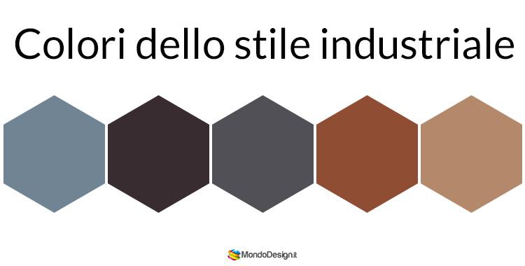 Palette di colore per lo stile industriale