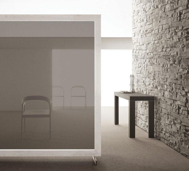 Tavolo consolle allungabile di design di Bauline modello Assolo chiuso