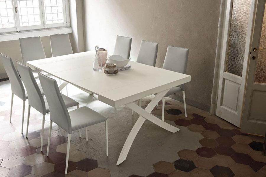Tavolo consolle allungabile di design di Bontempi modello Artistico aperto