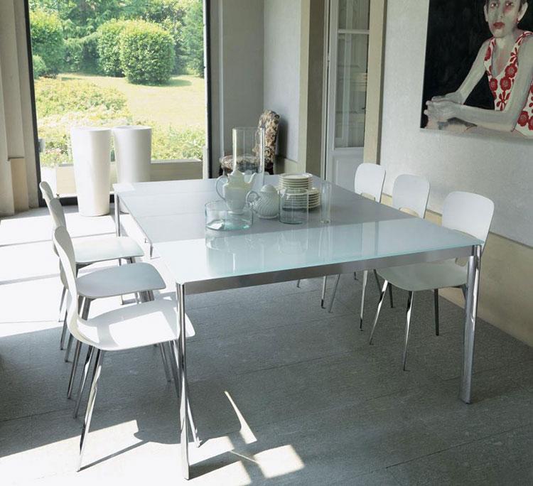 Tavolo consolle allungabile di design di Bontempi modello Etico aperto