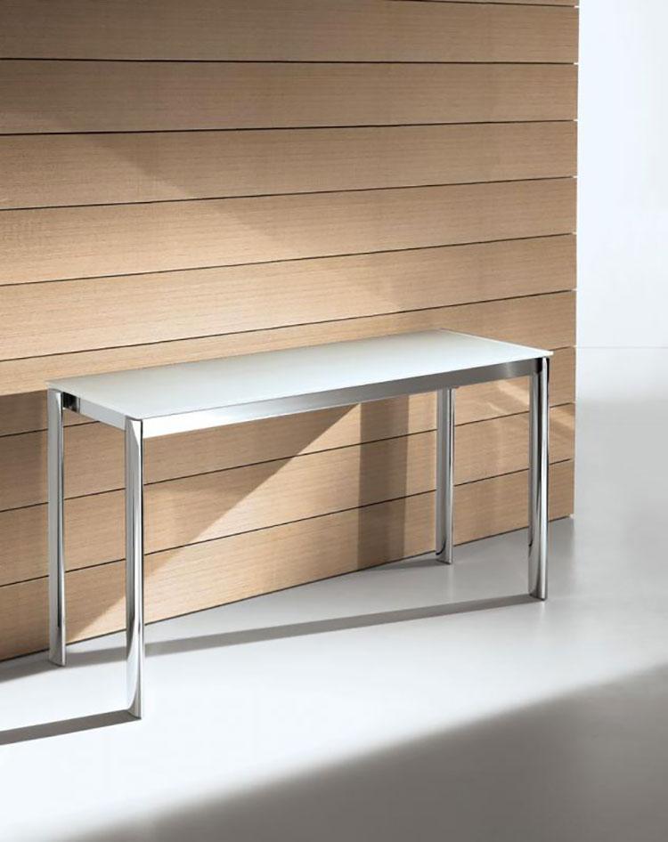 Tavolo consolle allungabile di design di Bontempi modello Etico chiuso