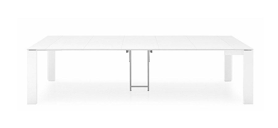 Tavolo consolle allungabile di design di Calligaris modello Omnia aperto