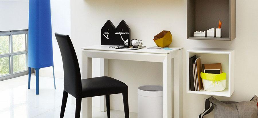Tavolo consolle allungabile di design di Calligaris modello Omnia chiuso