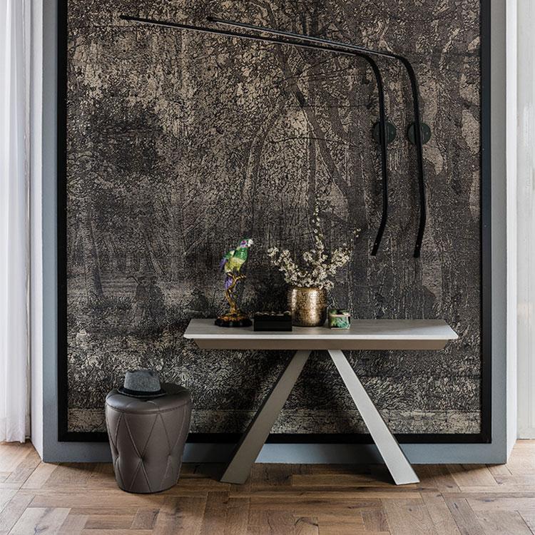 Tavolo consolle allungabile di design di Cattelan Italia modello Convivium chiuso