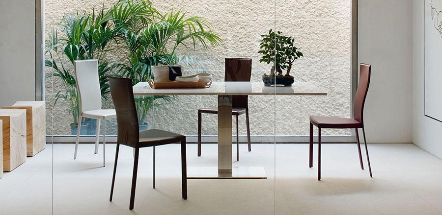 Tavolo consolle allungabile di design di Cattelan Italia modello Elvis aperto