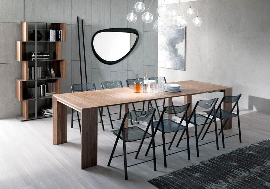 Tavolo consolle allungabile di design di Ozzio Italia modello Golia aperto