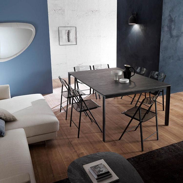 Tavolo consolle allungabile di design di Ozzio Italia modello Voilà aperto