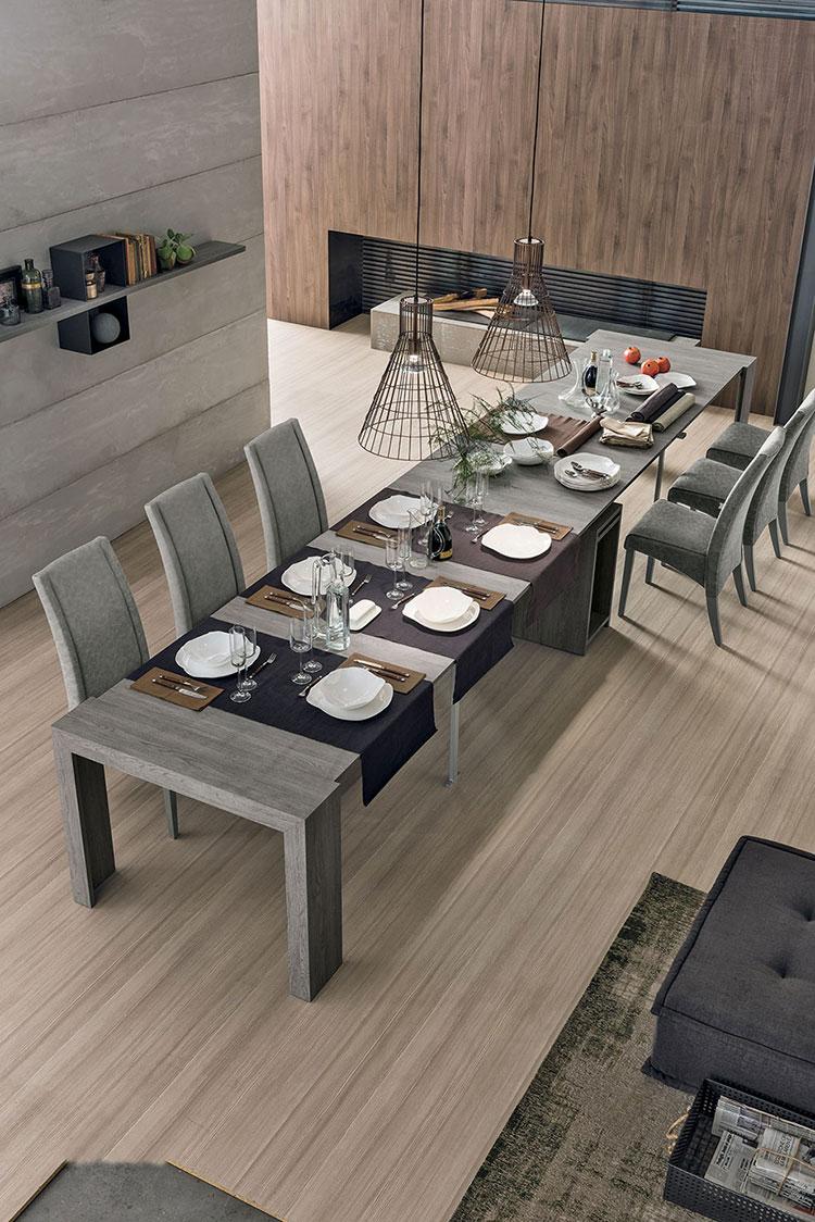 Tavolo consolle allungabile di design di Target Point modello Pandora aperto