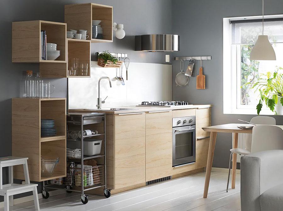 Modello di cucina di 2 metri lineare di Ikea n.01