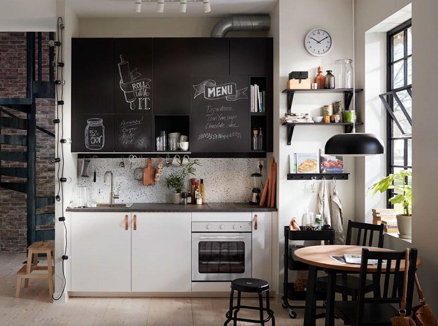 Modello di cucina di 2 metri lineare di Ikea n.02