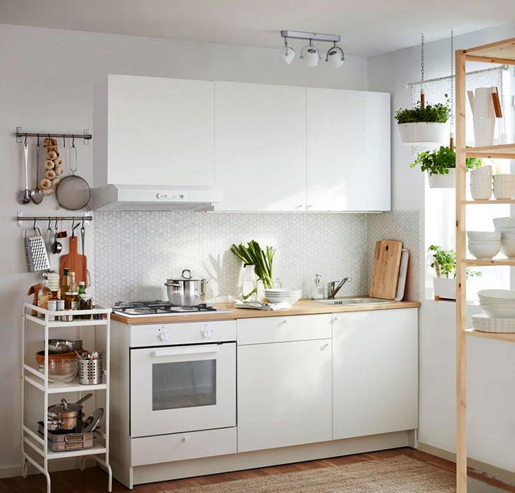 Modello di cucina di 2 metri lineare di Ikea n.04