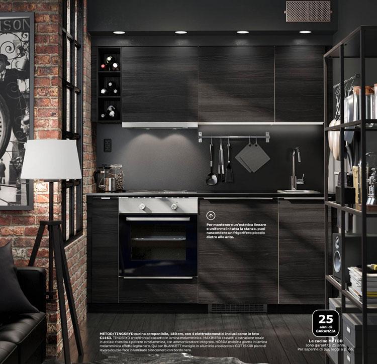 Modello di cucina di 2 metri lineare di Ikea n.06