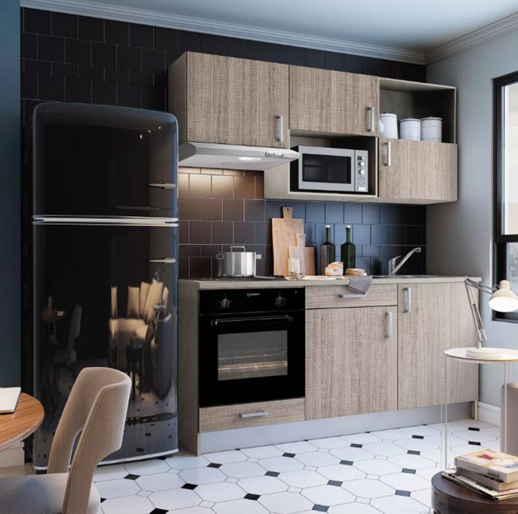 Modello di cucina di 2 metri lineare di Leroy Merlin n.01