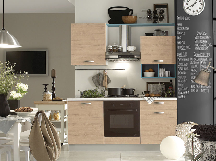 Cucine di 2 metri lineari per piccoli spazi for Mercatone uno cucine classiche