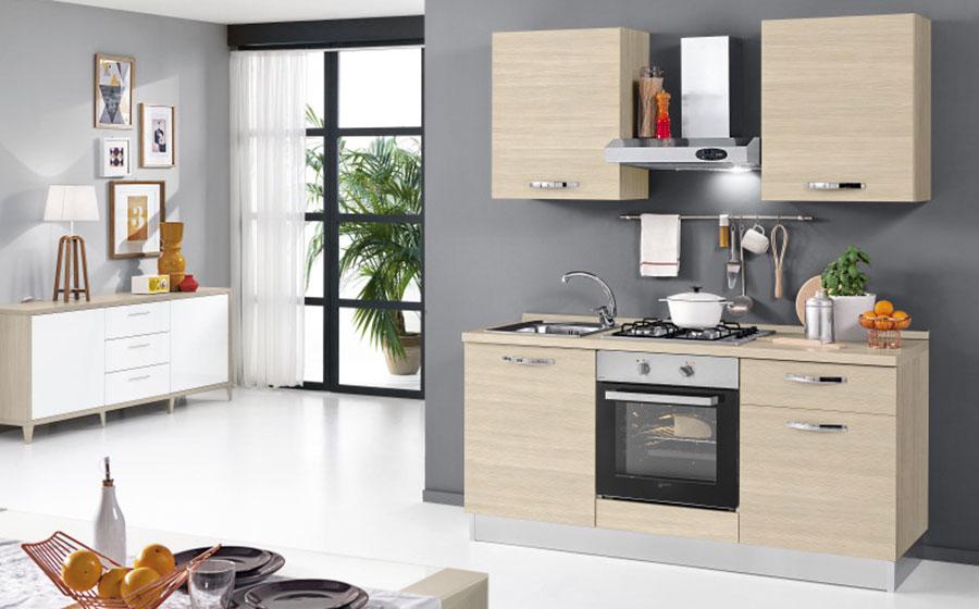 Modello di cucina di 2 metri lineare di Mondo Convenienza n.02
