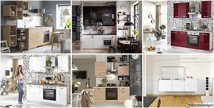 Cucine Per Piccoli Spazi.Cucine Di 2 Metri Lineari Per Piccoli Spazi Mondodesign It