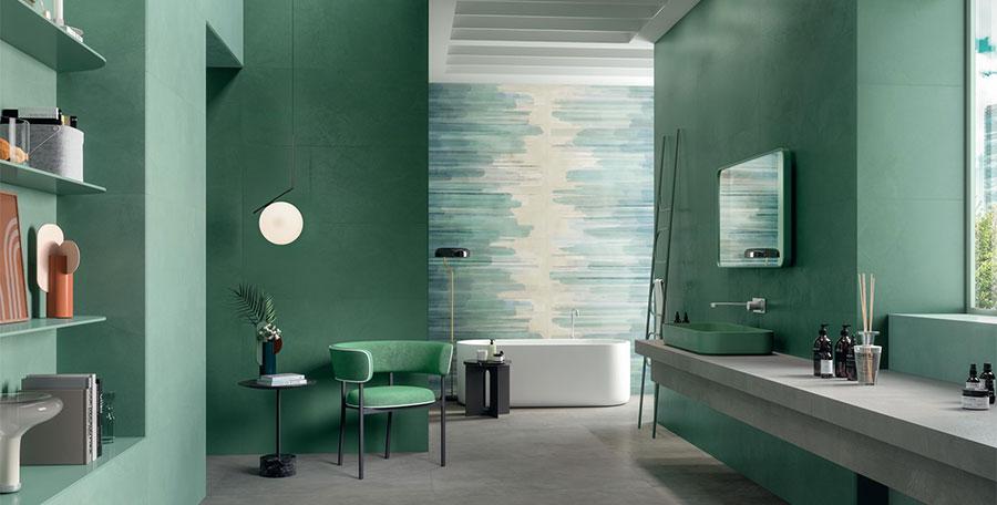 Abbinamento colori pareti bagno