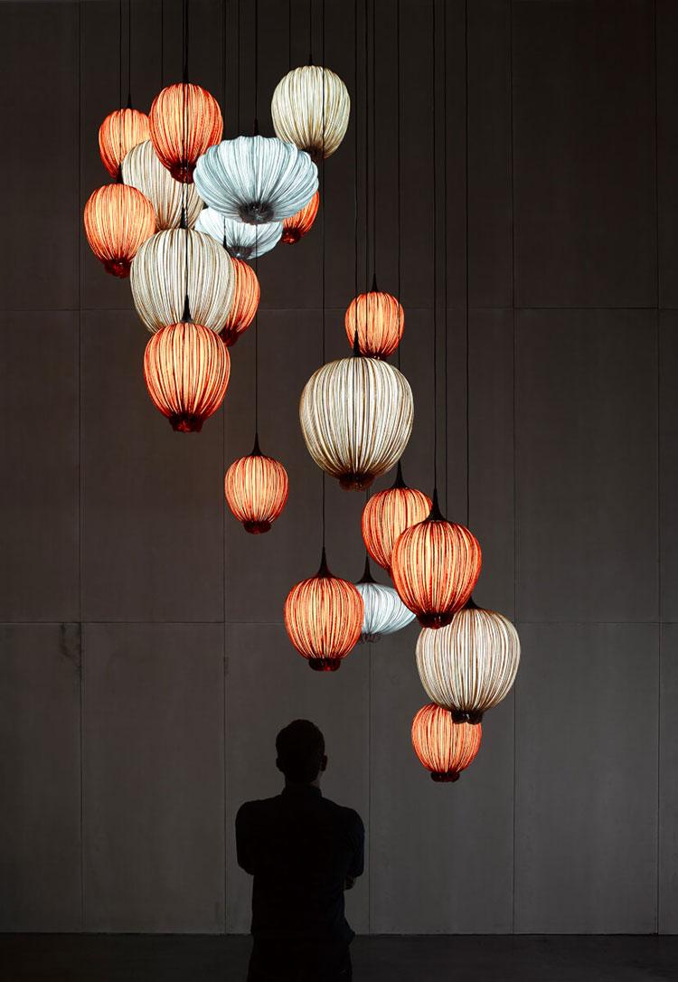 Modello di lampadario moderno di Aqua n.05