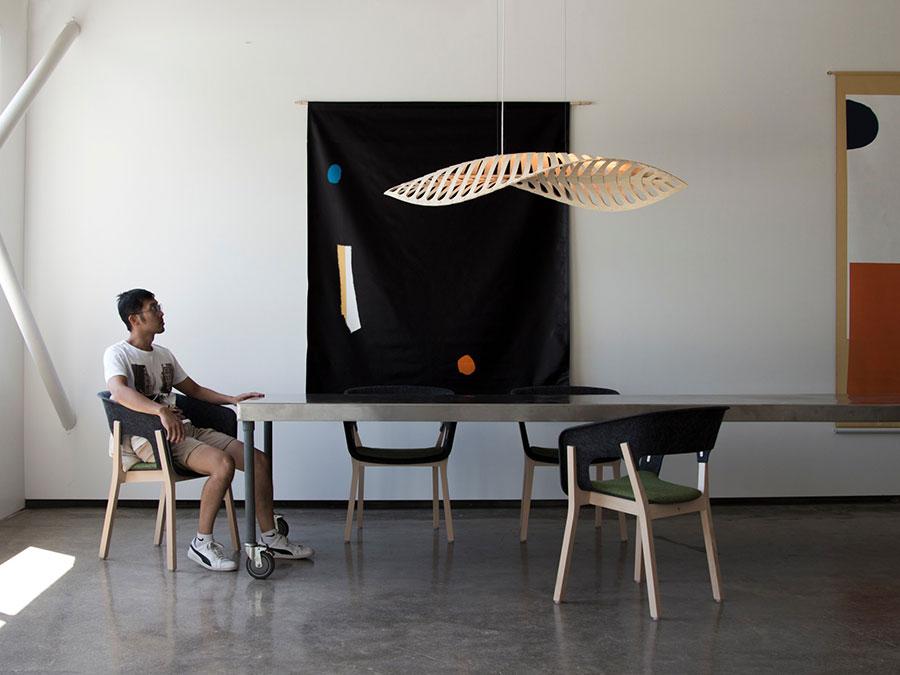 Modello di lampadario moderno di David Trubridge n.01