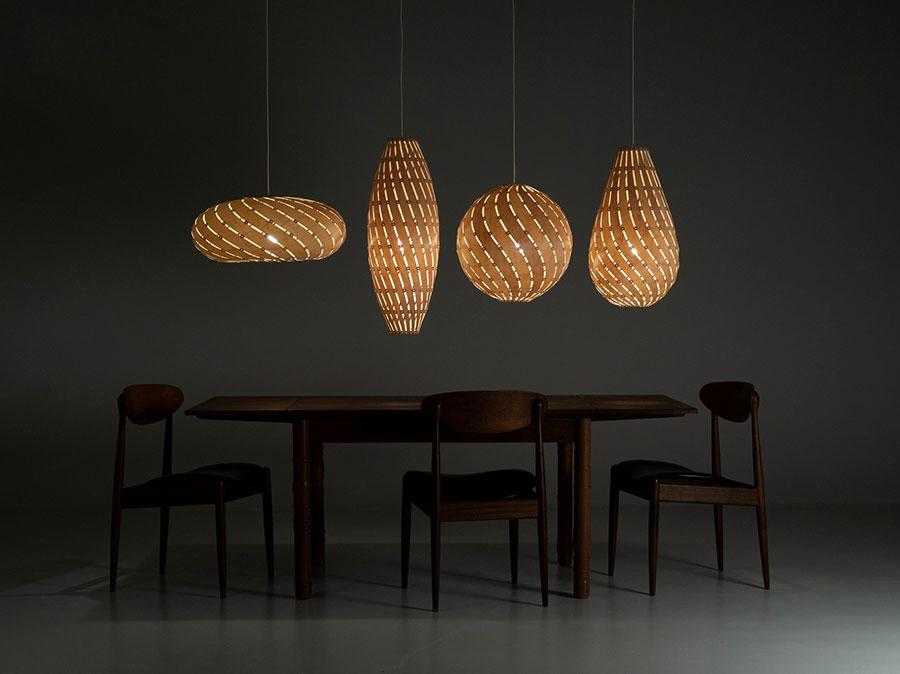 Modello di lampadario moderno di David Trubridge n.02