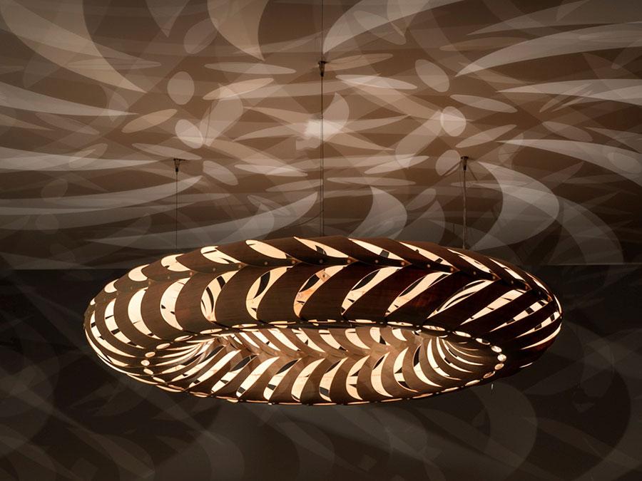 Modello di lampadario moderno di David Trubridge n.03