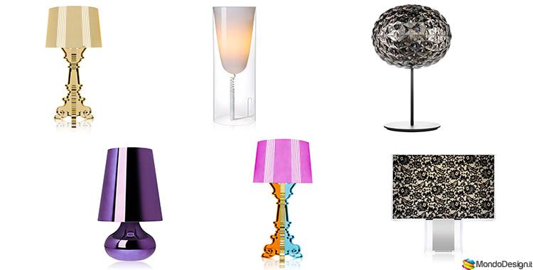 Modello di lampade da comodino di Design di Kartell