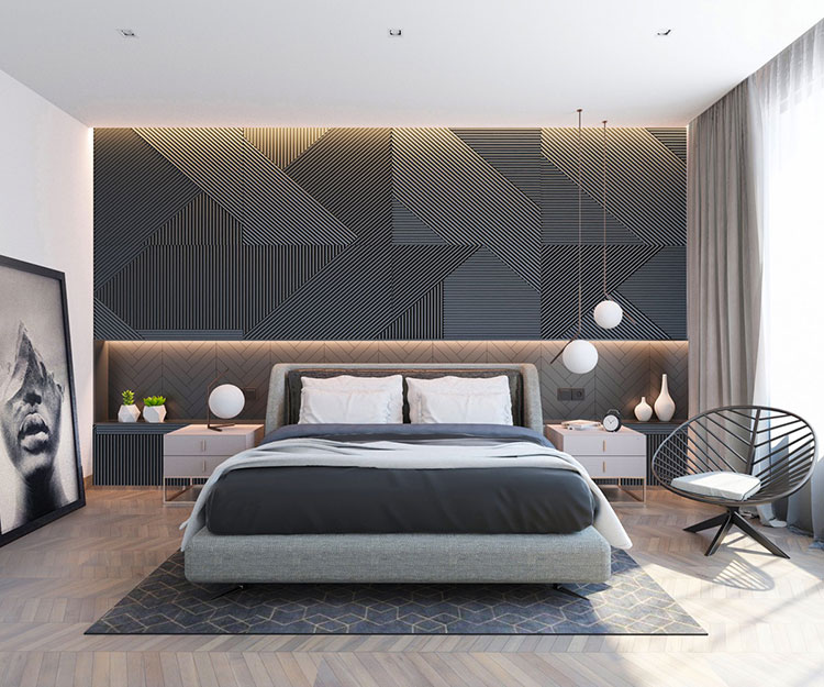 Idee per arredare una camera da letto di design n.34