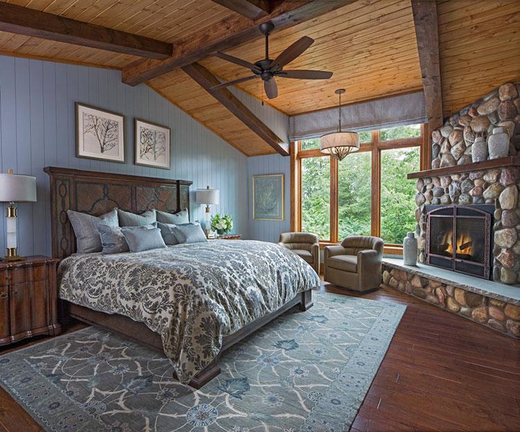 Idee di arredamento per una camera da letto rustica n.05