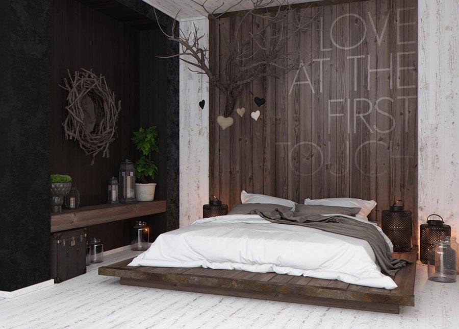 Idee di arredamento per una camera da letto rustica n.12