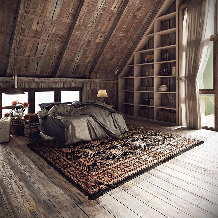 Idee di arredamento per una camera da letto rustica n.27