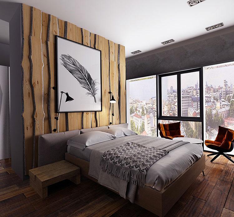 Idee di arredamento per una camera da letto rustica n.30