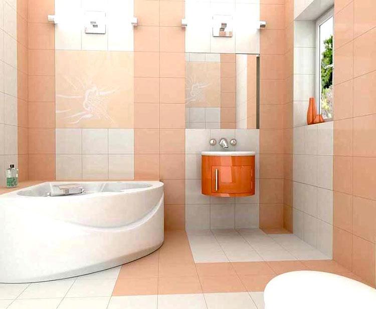 Colore pastello per pareti di un bagno piccolo n.03