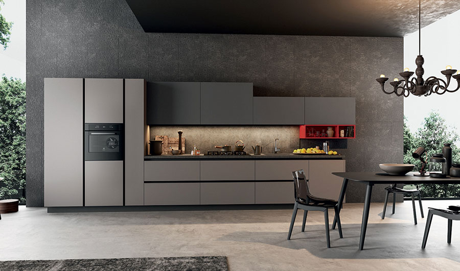 Modello di cucina lineare moderna di Arredo3 n.01
