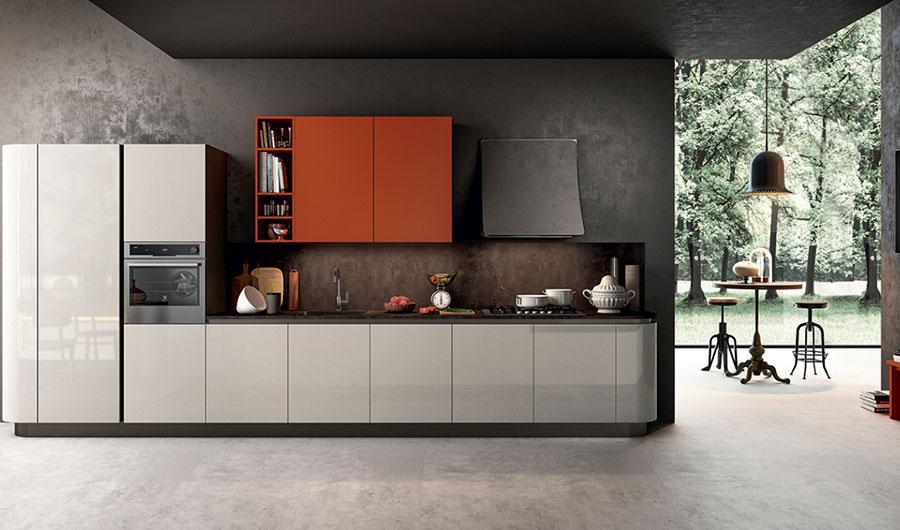 Modello di cucina lineare moderna di Arredo3 n.02