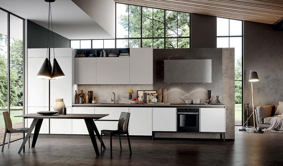 Modello di cucina lineare moderna di Arredo3 n.04