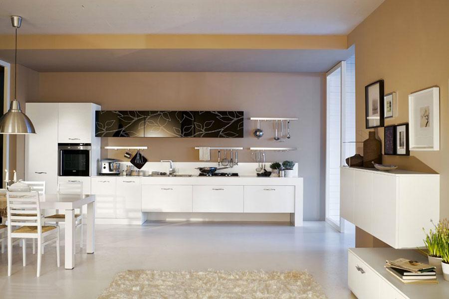 Modello di cucina lineare moderna di Arrex n.02