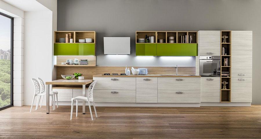 Modello di cucina lineare moderna di Arrex n.03