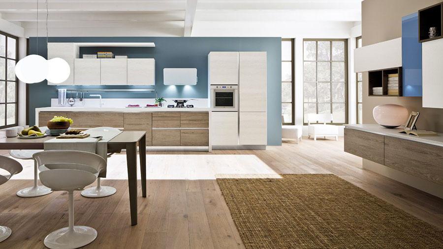 Modello di cucina lineare moderna di Arrex n.04
