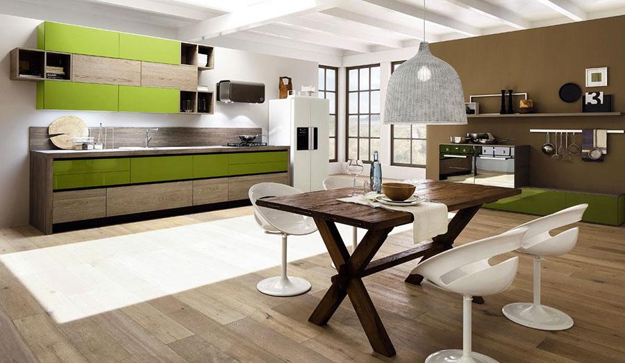 Modello di cucina lineare moderna di Arrex n.05