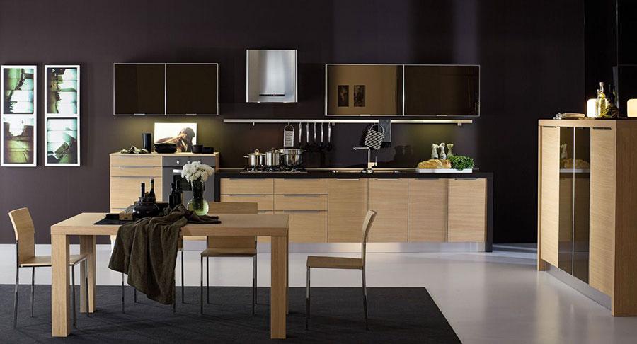 Modello di cucina lineare moderna di Arrex n.06