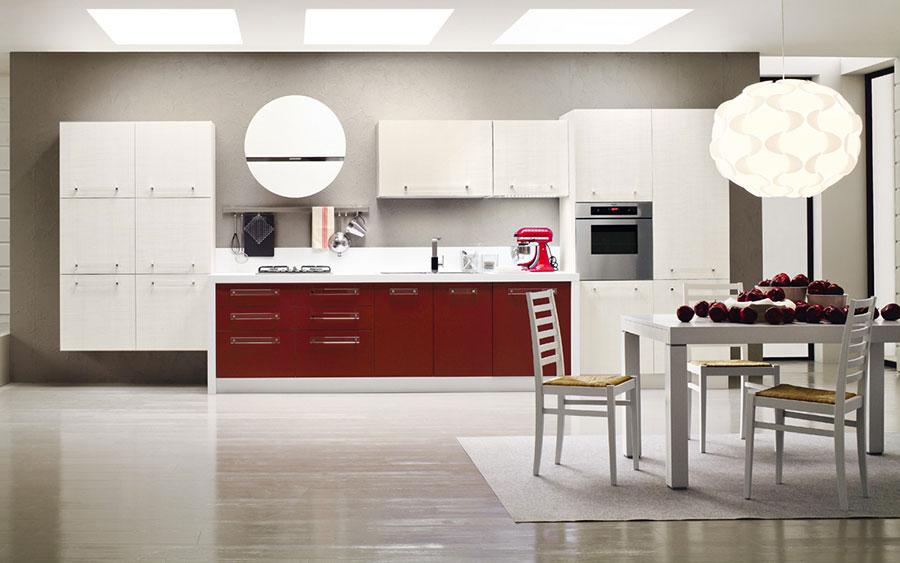 Modello di cucina lineare moderna di Arrex n.07
