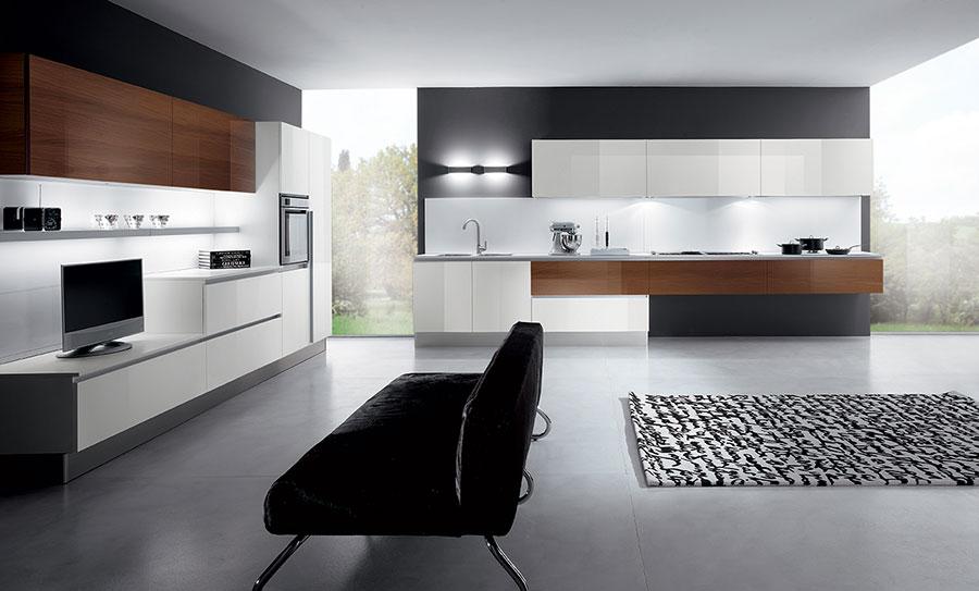 Modello di cucina lineare moderna di Biefbi n.01