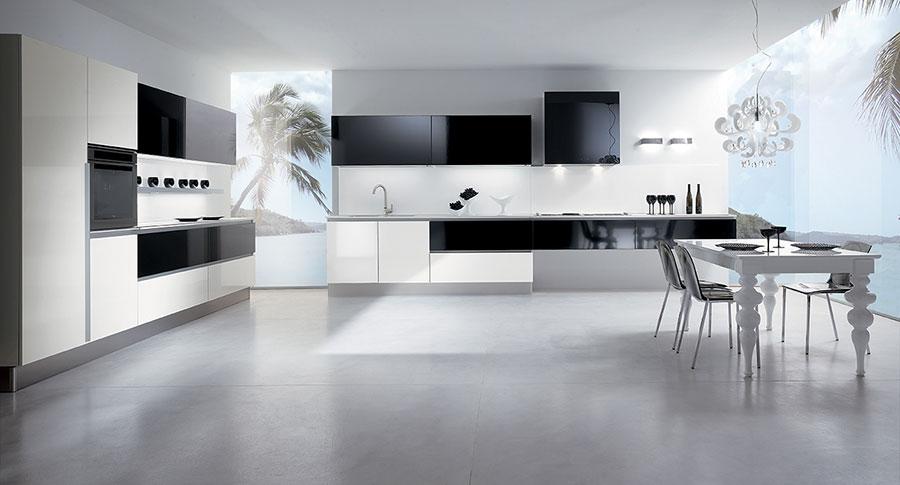 Modello di cucina lineare moderna di Biefbi n.02