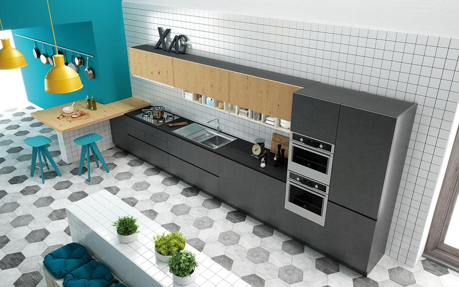 Modello di cucina lineare moderna di Biefbi n.03