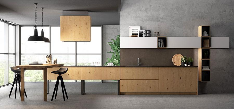 Modello di cucina lineare moderna di Biefbi n.04