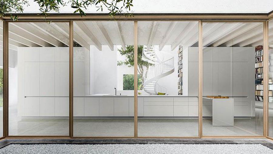 Modello di cucina lineare moderna di Elmar n.01