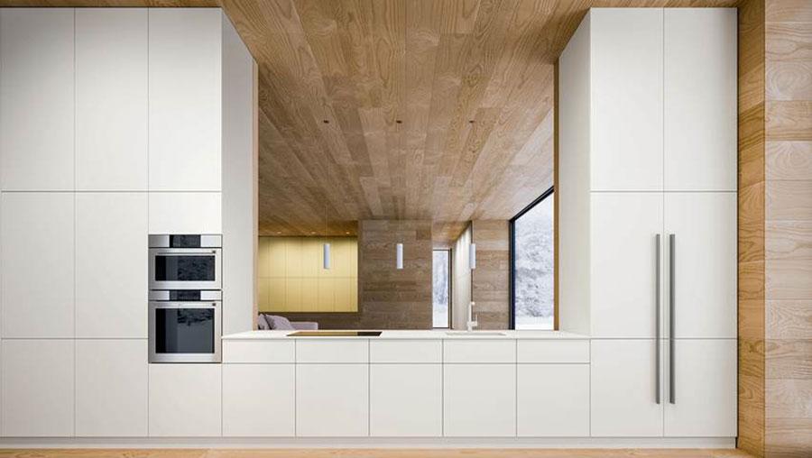 Modello di cucina lineare moderna di Elmar n.02