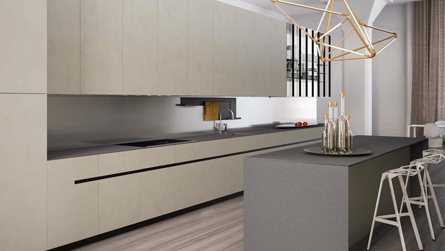 Modello di cucina lineare moderna di Elmar n.03