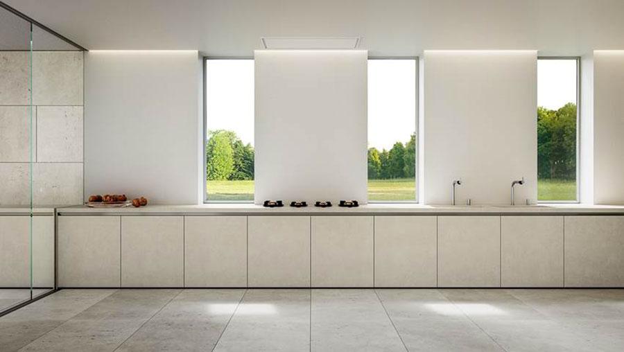 Modello di cucina lineare moderna di Elmar n.04